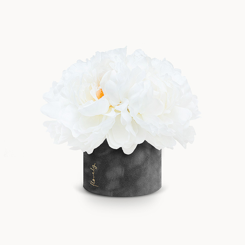 Flower box z piwoniami