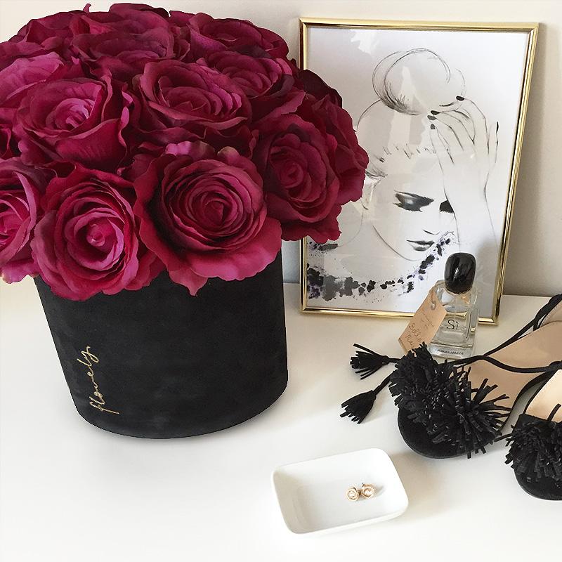 maxi flower box z różami