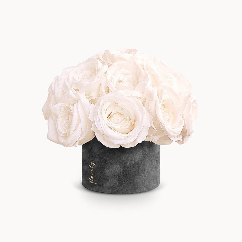flower box biale roze