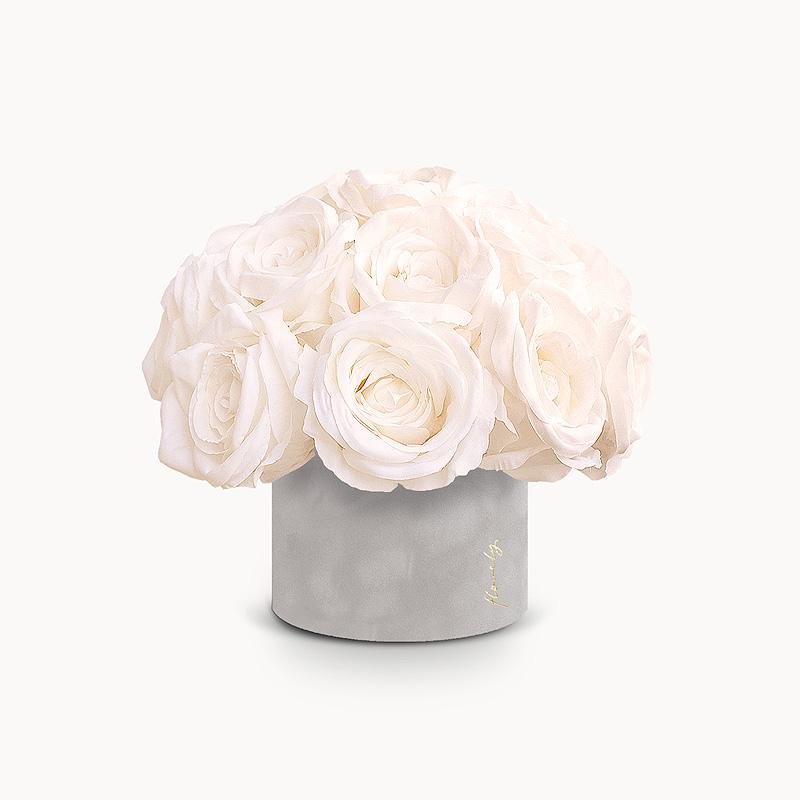 flower box z rozami