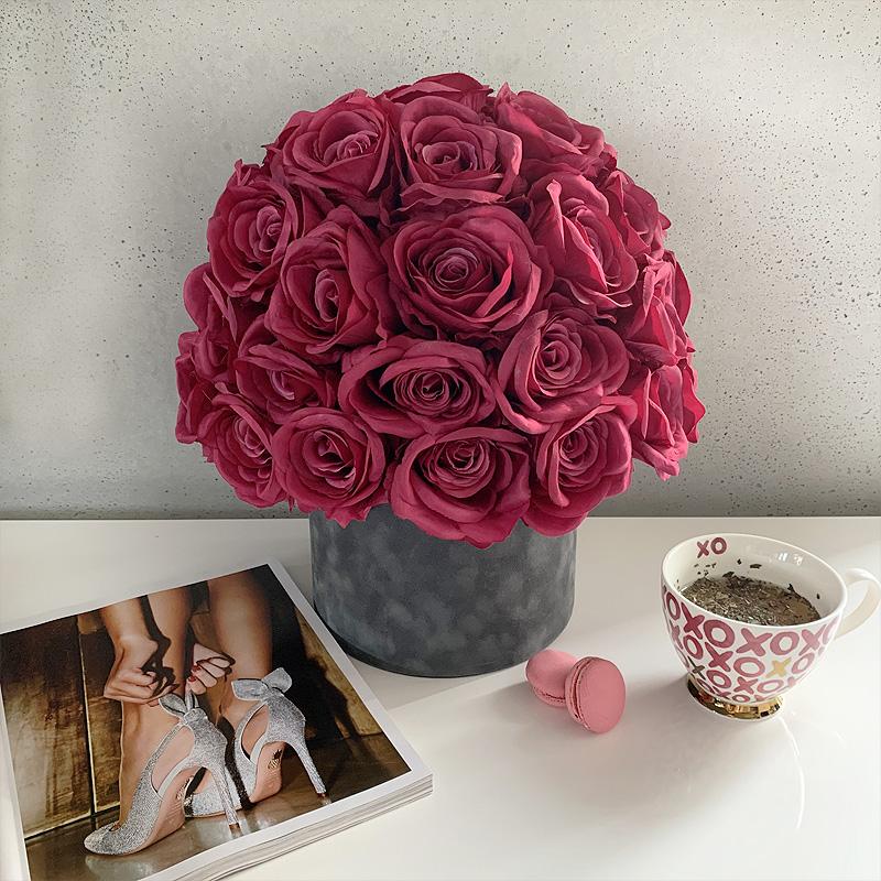 flower box z różami