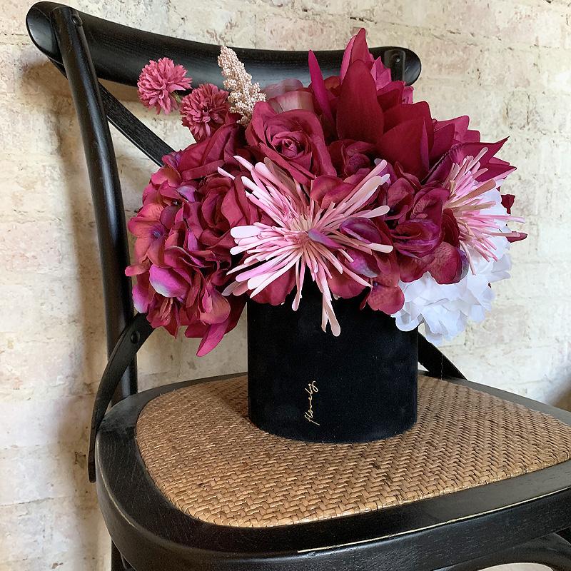 flowerbox z kwiatami