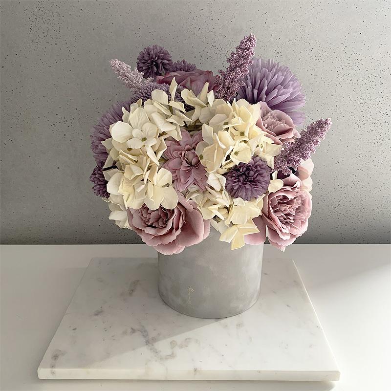 fioletowy flower box