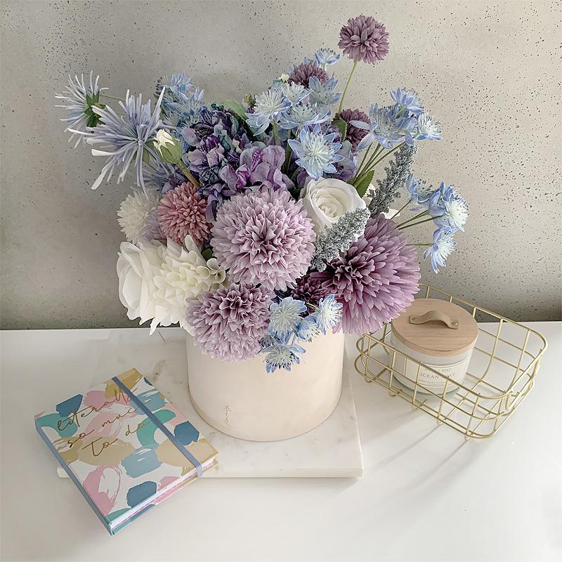 niebieskie kwiaty flower box