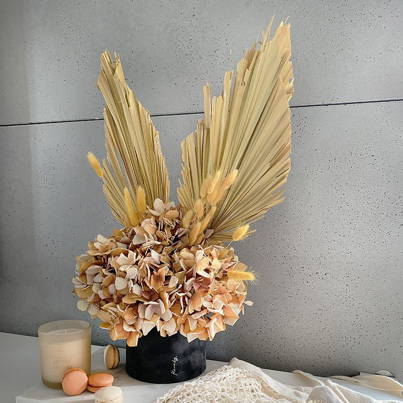 flowerbox z hortensjami