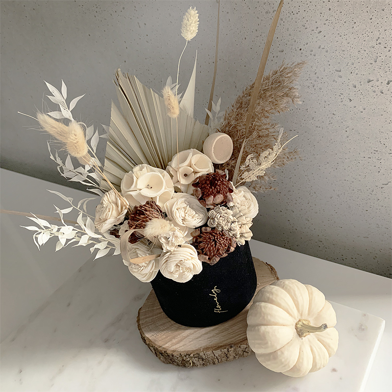 jesienny flowerbox z suszem