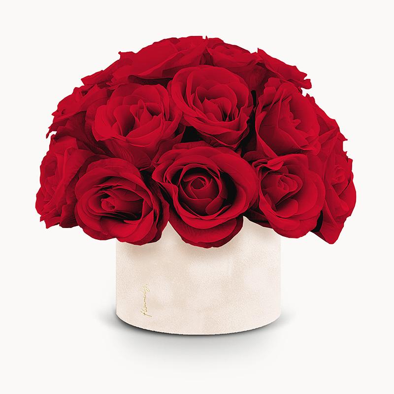 flower box sztuczne kwiaty
