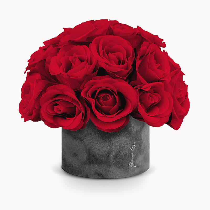 flower box czerwone róże