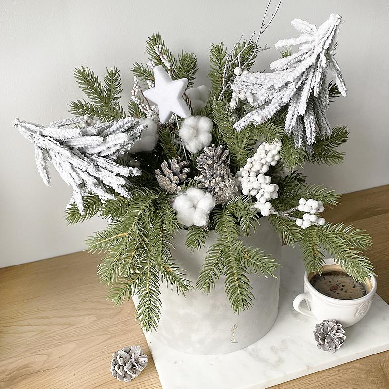zimowy flower box