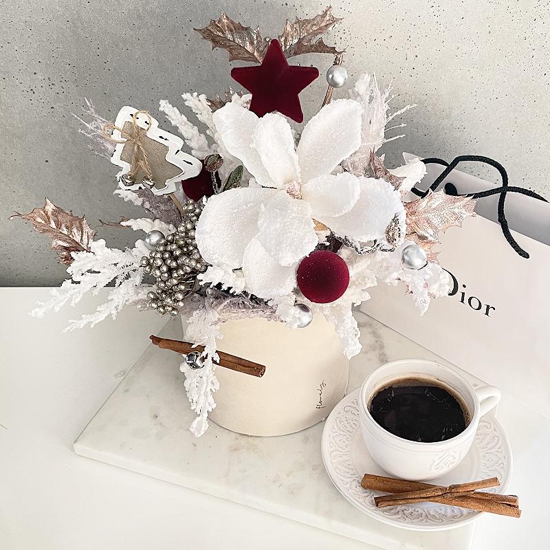 zimowa kompozycja flowerbox