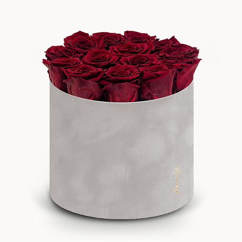 ciemno czerwone wieczne róże