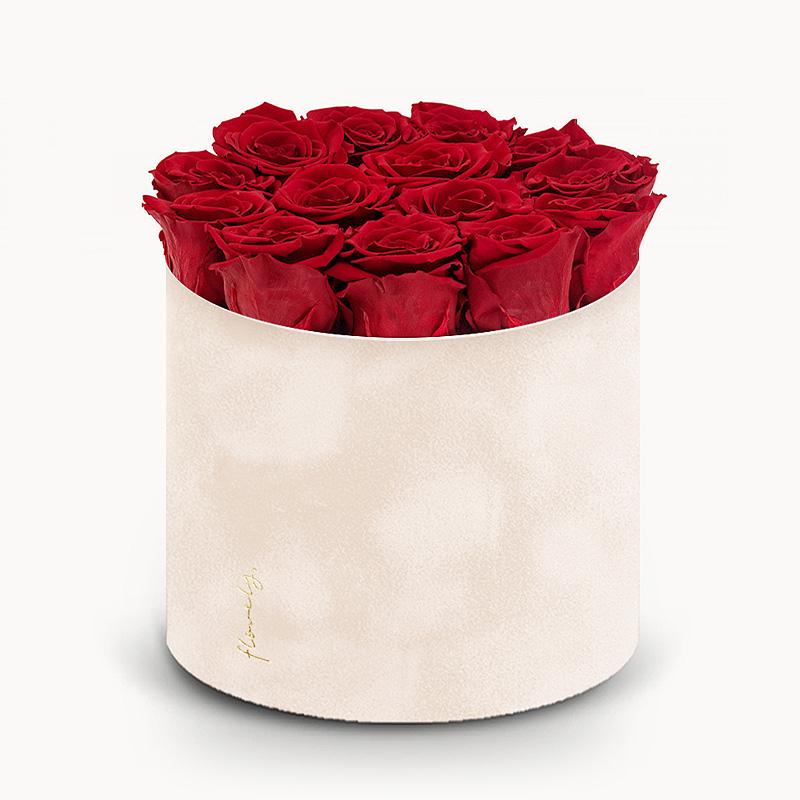 flowerbox z rozami