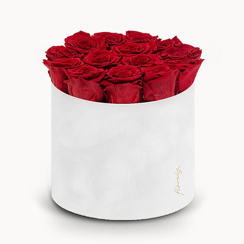 czerwone wieczne róże flowerbox