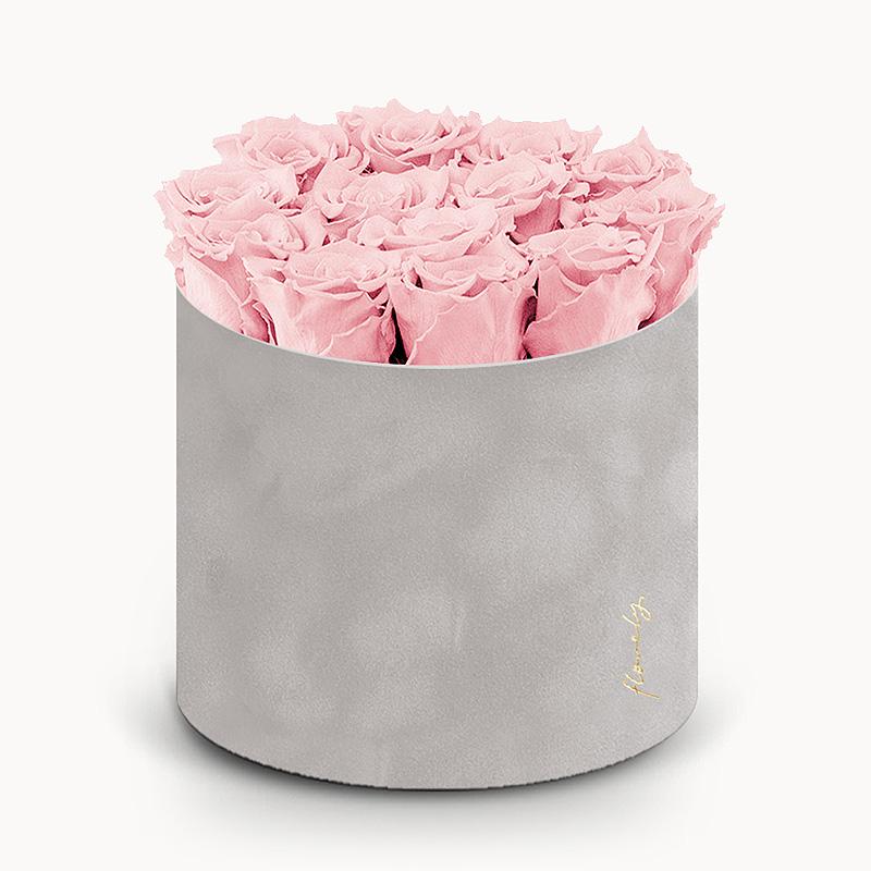 różowe wieczne róże