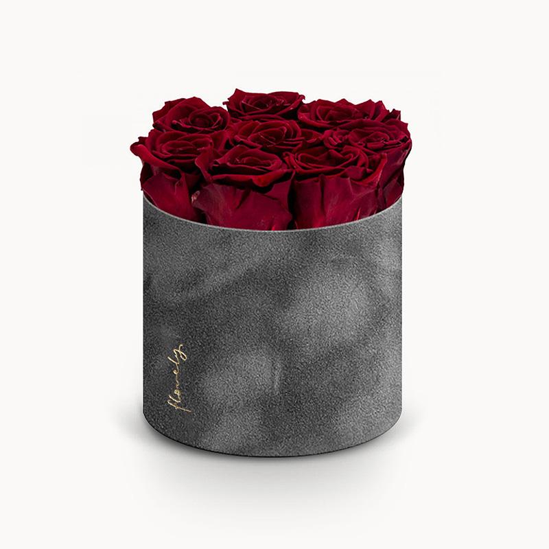 flowerbox z wiecznymi różami