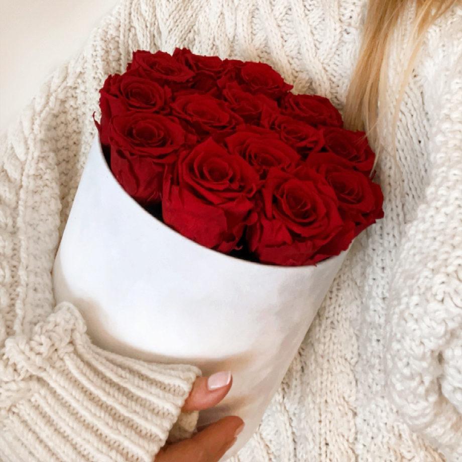 flower box wieczne róże